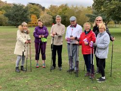 Parkinsons UK group using Activator poles