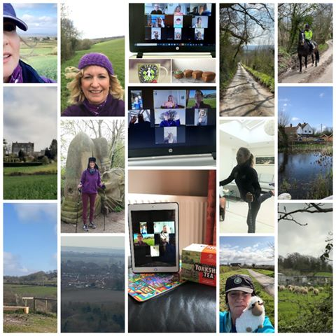 Nordic walking group enjoy i walks and virtual coffee