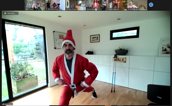 Santa does advent workout with WALX